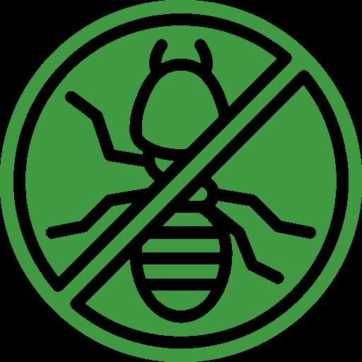no termite green sign icon